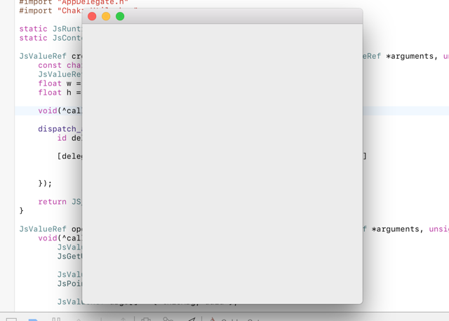 Empty 400x400 window, created from JavaScript